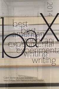 Best American Experimental Writing 2014
